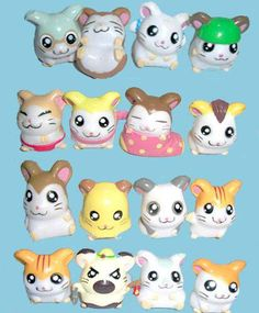 Hamtaro, I had like all these little figures. I wish I still did for memory's sake.
