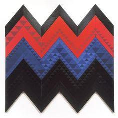 'Tuhi' Series, I, (acrylic on board) by Sandy Adsett. Maori Designs, Nz Art, Maori Art, Outdoor Art, Painting Patterns, Cloak, New Zealand, Artists, Sculpture