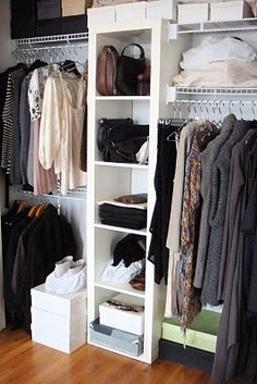 Reuse closet wire shelving with IKEA this Expedit