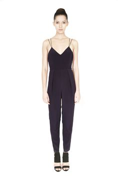 Silk crepe de Chine jumpsuit with a fitted bodice and a criss-cross string back detail and a conceal zip fastening. Available on or shop Silk Crepe, Fitted Bodice, Morphe, Party Fashion, Criss Cross, Personal Style, Celebrity Style, Label, Jumpsuit