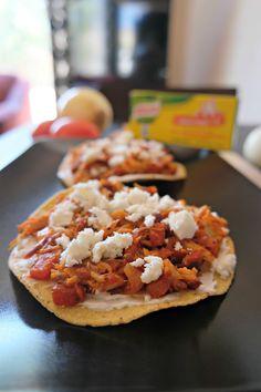 Sammy Makes Six: #SaboreaTuVerano with Chicken Chipotle Tostadas & Knorr. #MexicanFood #Tostadas #ad #recipe