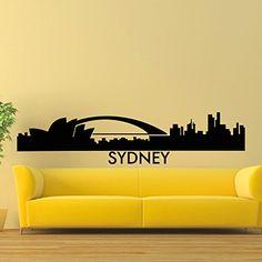 Wall Decal Vinyl Sticker Sydney Skyline City Scape Silhouette Decor Sb119 ElegantWallDecals http://www.amazon.com/dp/B011IMRVZU/ref=cm_sw_r_pi_dp_uikYvb1ARBBZS