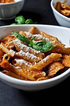 Roasted Red Pepper Penne | How Sweet It Is