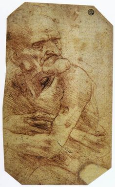 leonardo da vinci paintings | Study of an Old Man - Leonardo da Vinci - WikiPaintings.org