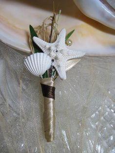 Boutonniere starfish and seashell