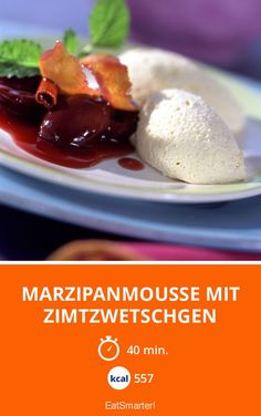 Marzipanmousse mit Zimtzwetschgen - smarter - Kalorien: 557 kcal - Zeit: 40 Min. | eatsmarter.de