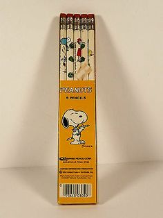 Peanuts Snoopy Empire 5 Pencil Vintage Package Sealed