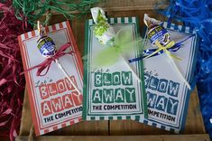 Blow Away the Competition Motivational Team Treat Tags Cheer Snacks, Cheer Treats, Soccer Treats, Cheer Team Gifts, Dance Team Gifts, Football Treats, Cheerleading Gifts, Cheer Mom, Cheer Competition Gifts