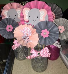 Elephant theme baby shower it's a girl