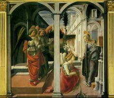 Annunciation by Filippino Lippi, Basilica di San Lorenzo