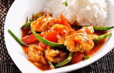 Nyttig mat för hela veckan – 5 kaloriberäknade recept! Sauce Recipes, Thai Red Curry, Food Porn, Meat, Chicken, Ethnic Recipes, Healthy Lunches, Sauces, Food Ideas