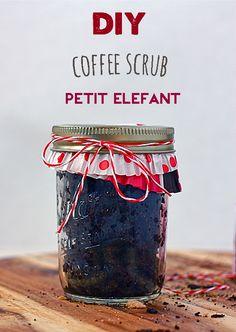 Make it: your own coffee body scrub DIY - Petit Elefant Coffee Body Scrub Diy, Diy Body Scrub, Diy Scrub, Homemade Beauty Recipes, Homemade Beauty Products, Diy Spa, Hacks, Diy Beauty, Easy Diy