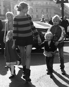 Natalia Vodianova with her children.