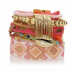 My absolute FAV summer bracelets!!! The layered look all in one piece by HIPANEMA  $120