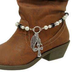 boot jewelry | ... AB CRYSTAL RHINESTONE WESTERN COWBOY COWGIRL BOOT STRAP ANKLET JEWELRY