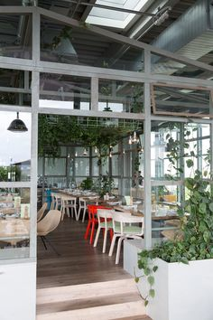 neni rooftop restaurant at the 25 hours hotel bikini // berlin - could be converted into a coworking space idea.