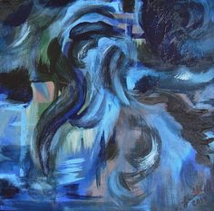 Maelstrom 12x12x 1.5 Abstract Painting Gallery Wrap Original Art  Ready to Hang Wall Art