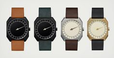 24 Hour Single Hand Watch by Slow Watches | Cool Material