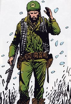 Rock by Joe Kubert War Comics, Dc Comics Art, Anime Comics, Comic Book Artists, Comic Artist, Comic Books Art, Joe Kubert, Military Action Figures, Western Comics