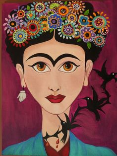 frida | artist unknown Hispanic History Month, Frida Artist, Mexican Heritage, Poster Prints, Posters, Chocolate Bouquet, Mexican Art, Portrait Art, Animal Kingdom