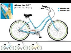 "Phat Cycles - Beach Cruisers: Designer Bicycles - Melodie 26"""