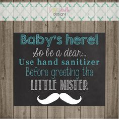 Hospital Door Chalkboard Sign - New Baby Chalkboard Sign - Please Use Hand Sanitizer Chalkboard Sign - Products - Baby Dog Birthday, First Birthday Parties, Dinosaur Valentines, Hospital Door, Doodle Designs, Chalkboard Signs, Baby Design, Hand Sanitizer, New Baby Products