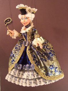 Large 17th Century Venetian Lady Marionette