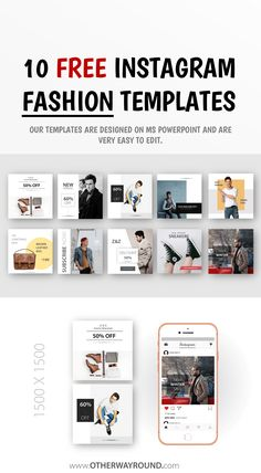 Best Fashion Instagram, Best Instagram Posts, Free Instagram, Banner Design, Layout Design, Instagram Post Template, Fashion Templates, Long Hours, Net Fashion