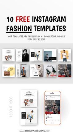 Best Fashion Instagram, Best Instagram Posts, Free Instagram, Banner Design, Layout Design, Fashion Templates, Long Hours, Instagram Post Template, Net Fashion