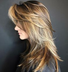 50 Cute and Effortless Long Layered Haircuts with Bangs Long Choppy Cut with Swoopy Bangs Layered Haircuts With Bangs, Haircuts For Medium Hair, Long Face Hairstyles, Long Bob Haircuts, Long Hair With Bangs, Long Hair Cuts, Medium Hair Styles, Straight Hairstyles, Long Hair Styles