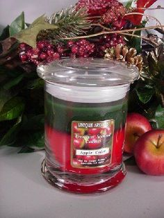 13 oz Status Jar Candle Apple Cider Scent Candle by Unique Aromas. $26.93. Price per jar candle. Apple Cider scent. Candle color may vary from photograph. This candle is sure to bring joy and warmth to all those in the presence of it.Some assembly may be required. Please see product details.Some assembly may be required. Please see product details.