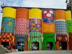 Os Gemeos, Vancovuer Biennale, Granville Island, Vancouver art installation, Giants series, urban design, art, murals, street murals, urban art, street art, Brazilian street artists,Otavio and Gustavo Pandolfo