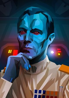 star wars by Liam Brazier Star Wars Tattoo, Thrawn Star Wars, Cuadros Star Wars, Grand Admiral Thrawn, Star Wars Design, Star Wars Images, Star Wars Wallpaper, Star Wars Fan Art, Star Wars Rebels