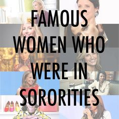 10 Noteworthy Women in Sororities -- hailing from many careers, including one of ZTA's own!