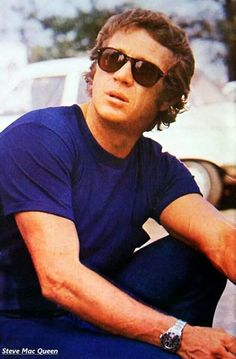 Steve McQueen x Rolex x Persol. Steve McQueen - The King of Cool. Persol - The iconic sunglasses. Steven Mcqueen, Steve Mcqueen Rolex, The Hunter Steve Mcqueen, Steve Mcqueen Style, Classic Hollywood, Old Hollywood, Hollywood Stars, Hollywood Icons, American Actors