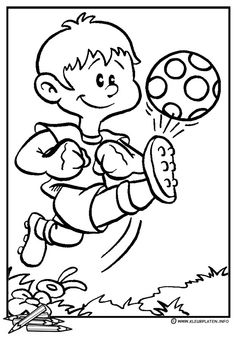 Voetbal Sports Coloring Pages, Coloring Sheets For Kids, Colouring Pages, Coloring Books, Sports Theme Classroom, Coloring Pictures For Kids, Mandala, Cute Little Drawings, Football Birthday