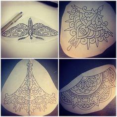 More sternum/underboob designs! Tattoosbycaleb@gmail.com #atx #mandala