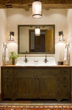 Large Dark Wood Bathroom Idea