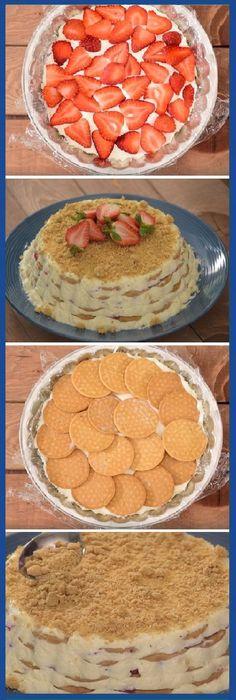 La mejor carlota que vas a probar en tu vida es esta: CARLOTA DE FRESAS CON CREMA ¡La preparas en minutos y la disfrutas por horas! #carlota #fresas #crema #dulces #gelato #cheesecake #postres #dulces #tips #cake #pan #panfrances #panettone #panes #pantone #pan #recetas #recipe #casero #torta #tartas #pastel #nestlecocina #bizcocho #bizcochuelo #tasty #cocina #chocolate Si te gusta dinos HOLA y dale a Me Gusta MIREN …