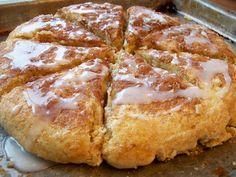 Crazy Deliciousness: Glazed Cinnamon Scones