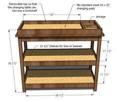 Ana White | Build a Simple Changing Table | Free and Easy DIY Project and Furniture Plans