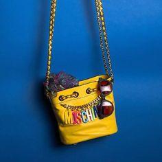 Fancy - Yellow Bucket Bag by Moschino