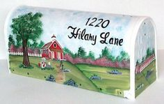 Hand Painted Mailboxes by ecrater.com. I plan to try to learn how to do this in 2012.