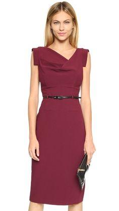 Black Halo Jackie O Dress -- love the neckline