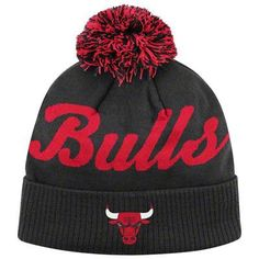 Chicago Bulls Black Pom Beanie Hat - NBA Adidas Cuffed Knit Cap:Amazon:Sports & Outdoors