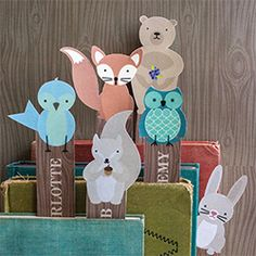 Adorable woodland critter bookmarks that you can personalize and print right at home.