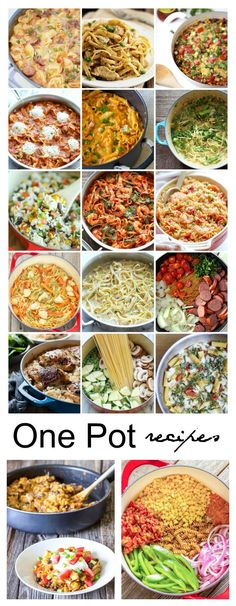easy one pot meals One Pot Recipes are so easy to create and will make a tasty weekday meal that the whole family is sure to enjoy. Yummy Recipes, Pasta Recipes, Healthy Recipes, One Pot Recipes, Recipies, Slow Cooker Recipes, Crockpot Recipes, Cooking Recipes, One Pot Dinners