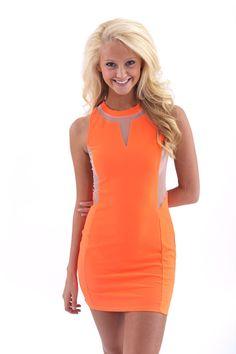 Not In Kansas Anymore Dress-Neon Orange - Dresses