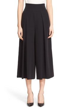Milly Crepe High Waist Culottes In Black Corset Sewing Pattern, Black Culottes, Fashion Pants, Fashion Outfits, Square Pants, Peplum Shirts, Comfy Dresses, Pants For Women, Clothes For Women