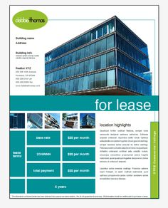 Commercial Real Estate Property Flyer & Ad Template by ...